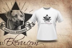 Tričko s potiskem Kevina, nejlepšího psa rhodesian ridgeback
