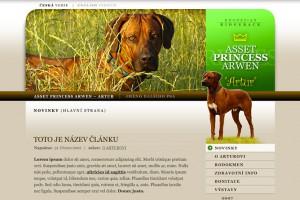 Web rhodéského ridgebacka Artura