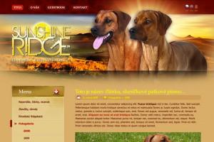 Web pro CHS Sunshine Ridge, Rhodesian Ridgeback