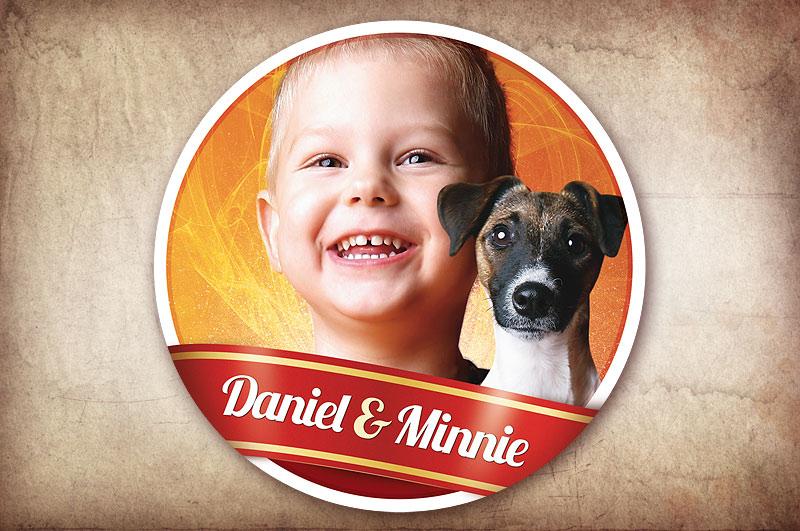 samolepka na auto Daniel a Minnie