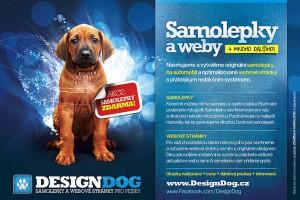 Reklama na služby DesignDog - samolepky na auto a webové stránky pro chovatele