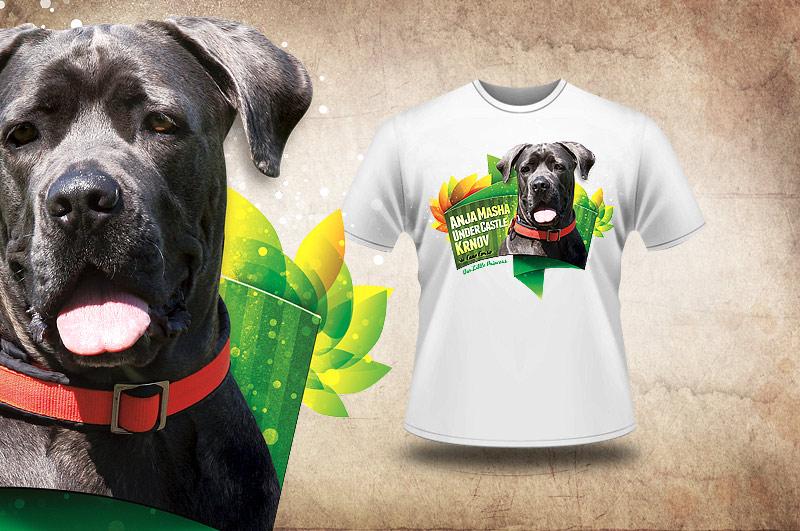 Cane Corso - kvalitní tričko s barevným potiskem