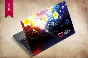 Samolepka na notebook pro mladou slečnu z Řecka