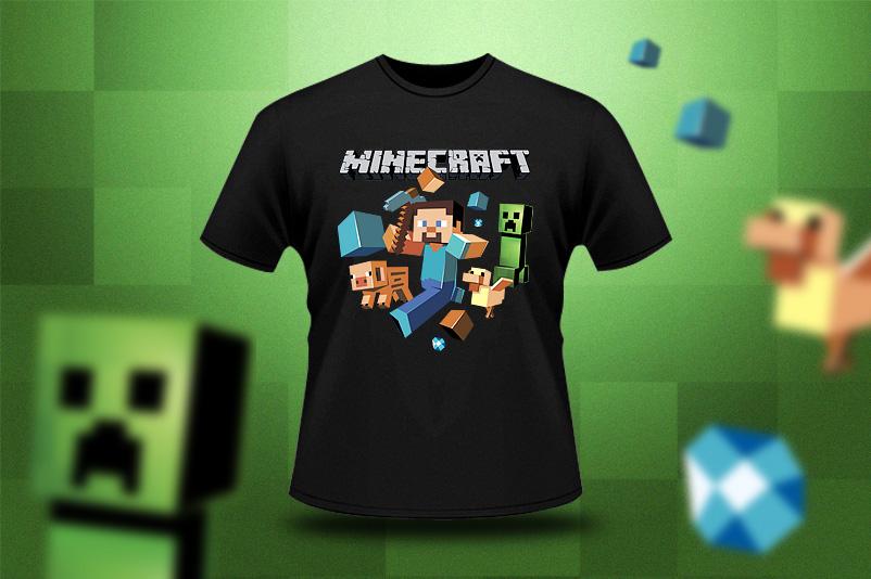 Tričko s potiskem Minecraft
